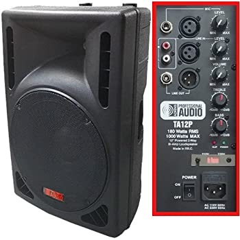 1000 watt powered dj speaker 12 inch bi amp 2 way active speaker system by. Black Bedroom Furniture Sets. Home Design Ideas