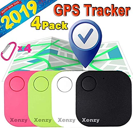 Acyan 2 Pack Smart GPS Tracker Key Finders Locator Wireless Anti-Lost Alarm Sensor Device for Kids Dogs Car Wallet Pets Cats Motorcycles Luggage White /& Green APP Control Compatible iOS Android