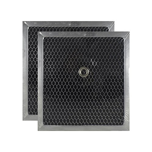 2 PACK Air Filter Factory 7 X 7-1/2 X 3/8 Bathroom Vent Charcoal Carbon Filters AFF150-CH by Air Filter Factory