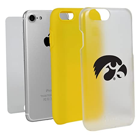 competitive price 9f830 d91c6 Amazon.com: Guard Dog Iowa Hawkeyes Clear with Yellow Hybrid Case ...