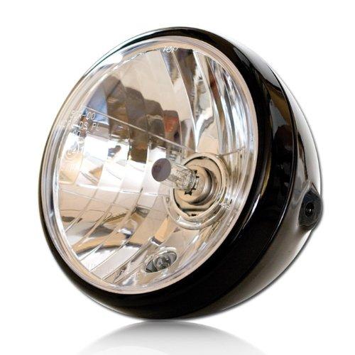 Befest Prismenreflektor M8 seitlich E-gepr/üft Klarglas Motorrad Scheinwerfer H4 NEVO schwarz 7 Zoll