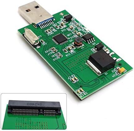 Adaptador de tarjeta sin funda CY Mini PCI-E mSATA a USB 3.0 ...