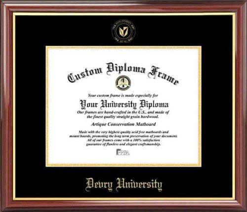 devry-university-embossed-seal-mahogany-gold-trim-diploma-frame