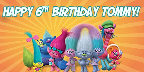 Trolls Birthday Banner for Kids