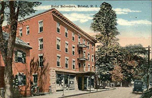 Street View of Hotel Belvedere Bristol, Rhode Island Original Vintage Postcard