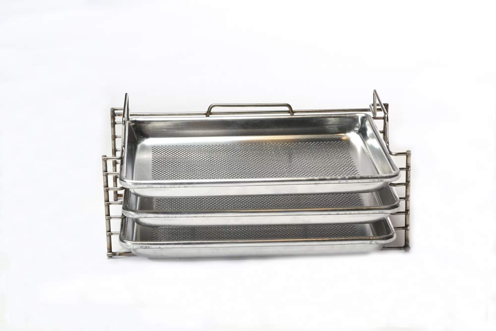 Bull Rack - BR3 - Grill Tray System - Grill, Smoke, Dry and Cure Meats and Vegetables - Grilling Rack and Tray by Bull Rack