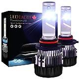 LED EAGLE 9005 LED Car Headlight Bulbs Kit - HB3 10000lm CREE Chip Auto LED Light Conversion Kit 12v Replace for Car Halogen Lights or HID Bulbs,6000K-6500K Cool White CREE-XD-9005-6K