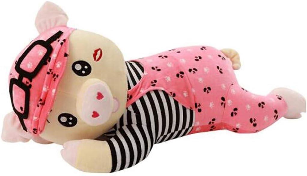 ASHDZ かわいいマクダル豚の人形人形縫いぐるみ人形のベッドぬいぐるみスリーピング枕大量送信の女の子誕生日ギフトガールピンクのファンファン豚80CM give gifts ( Color : Pink , Size : 80cm )