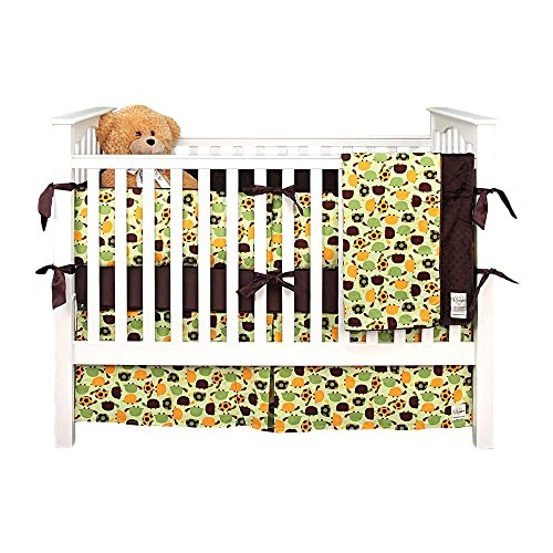 My Blankee 6 Piece Crib Bedding Set, Turtle Time Lime Green