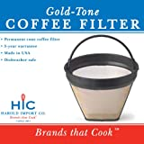 Gold Tone #2 Permanent Cone Coffee Filter, Brown
