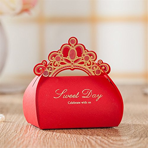 100pcs Wedding Decoration Paper Gift Box Candy Boxes Pink Elegant Wedding Favors Boxes Sweets Chocolates Valentines Day Boxes (Best Valentine's Day Chocolate Box)