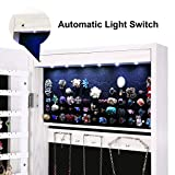 AOOU 6 LED Mirror Jewelry Cabinet Full Screen