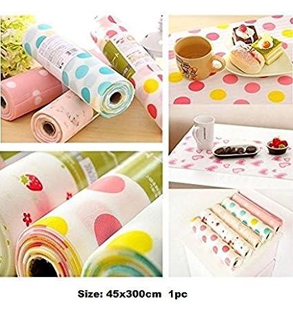 Skywalk PVC Anti-slip Kitchen Cupboard Liners, 45X300cm, Multicolour