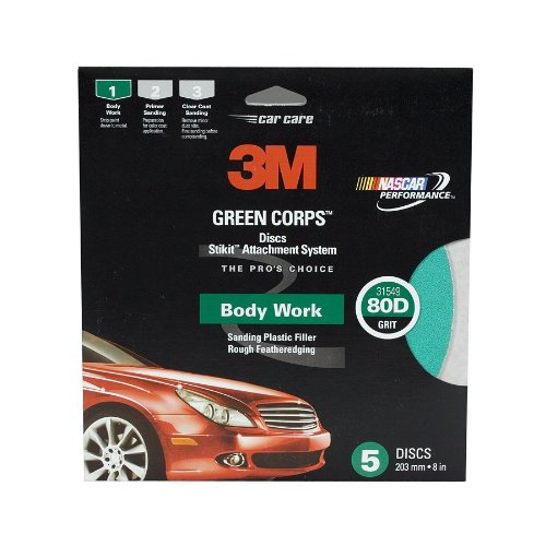 3M 31549 Stikit Green Corps 8'' 80D Grit Disc (Pack of 10)