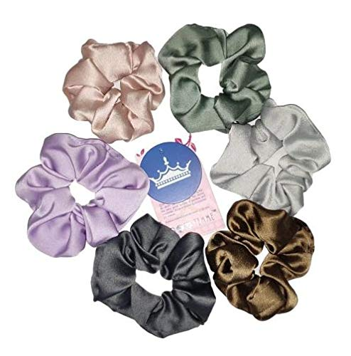 M size Pure 100/% silk scrunchies in light rose.Perfect Gift for Her Birthday gift for women.Liberty scrunchy hair band