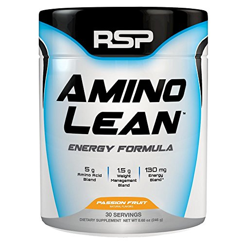 RSP AminoLean – All-in-One Pre Workout, Amino Energy, Weight Loss Supplement with Amino Acids, Complete Preworkout Energy & Natural Fat Burner for Men & Women, Passion Fruit, 30 Servings
