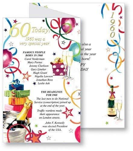 Granate 60th cumpleaños con texto en inglés - 1955 ha sido ...