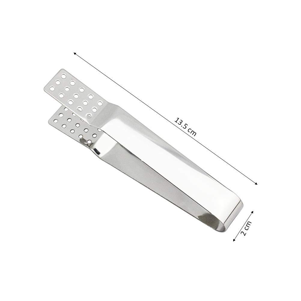 BESTONZON Multifunci/ón resistente al calor del colador del apret/ón de las pinzas de la bolsita de t/é del acero inoxidable
