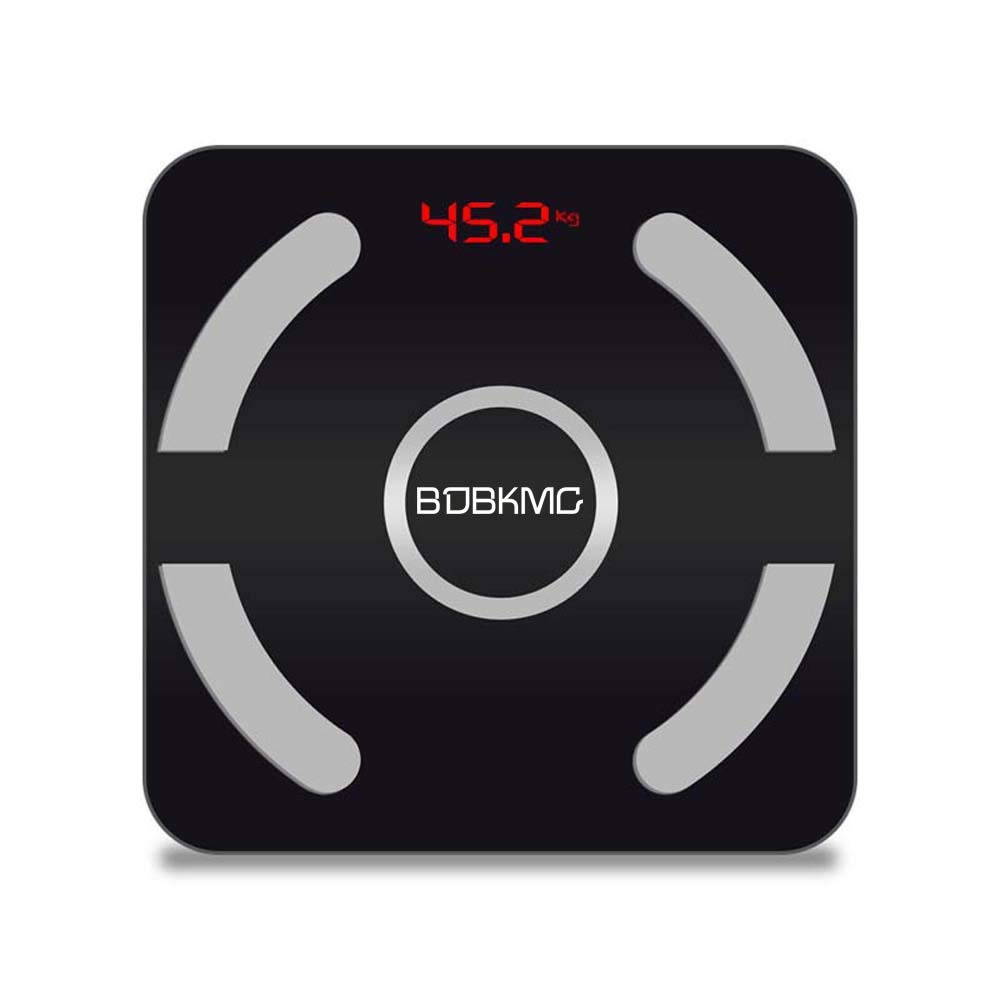 BDBKMG Intelligent Digital Body Fat, LED Display, Tempered Glass, Including Bmi, Body Fat, Muscle Mass, Calories