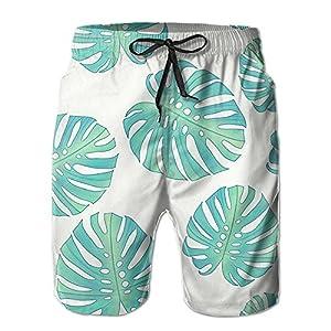 Huenem Shy Leaves Unique Quick Dry Beach Shorts For Men Boys