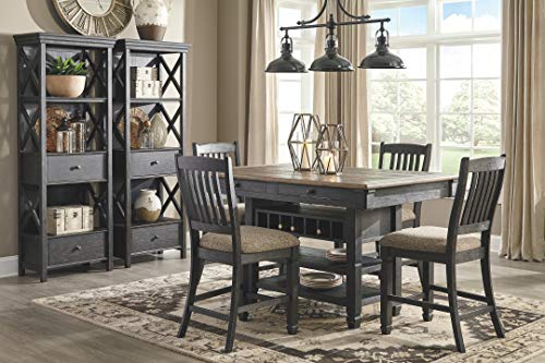 Farmhouse Buffet Sideboards Signature Design by Ashley Tyler Creek Display Cabinet, Black/Gray farmhouse buffet sideboards