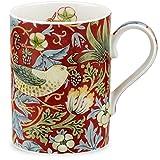 Royal Worcester Strawberry Thief - Crimson Slate Gift Boxed Mug