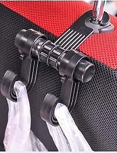 NBCVFUINJ® utilidad conveniente perchas dobles vehículos asiento de coche de auto apoyo para la cabeza bolsa de gancho