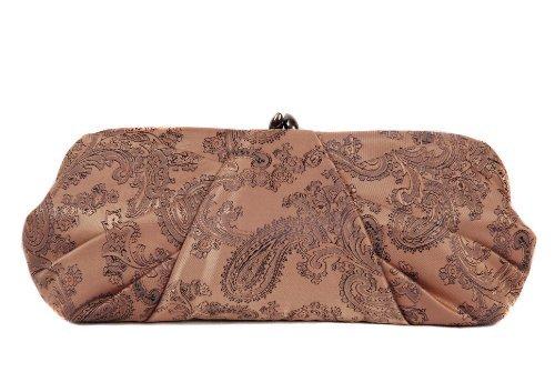 plissé main Moka sac corps par brocart soirée à Marron Berg Olga à sac main pochette U0Iqxw4