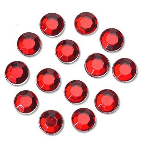 Darice Acrylic Rhinestones (Ruby) - 10 mm Round