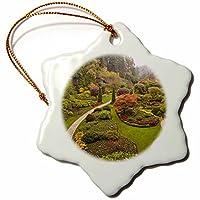 3dRose orn_72347_1 The Sunken Garden, Butchart Gardens, Victoria, Bc-Cn02 Sws0014-Stuart Westmorland-Snowflake Ornament, Porcelain, 3-Inch