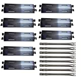 Wondjiont 8-Pack Stainless Steel Grill Burners & Heat Plates, Replacement for Bakers and Chefs GR2039201-BC-00, GD430, ST1017-012939, Grill Chef, Members Mark Gas Grill Models