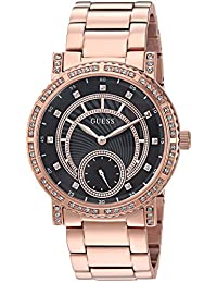 GUESS Women's Quartz Stainless Steel Casual Watch, Color:Rose Gold-Toned (Model: U1006L2)