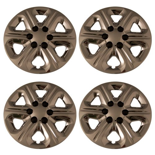 Set of 4 Chrome 17 Inch 6 Spoke Chevy Traverse Hubcaps w/ Bolt On Retention System - Aftermarket: IWC454/17C (Chrome Spoke Set)