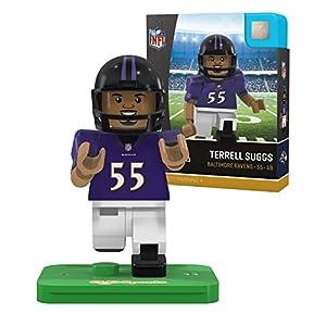 NFL Baltimore Ravens Gen4 Limited Edition Terrell Suggs Mini Figure, Small, White