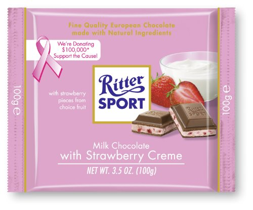 Chocolate Strawberry Milk (Ritter Sport Bars, Milk Chocolate with Strawberry Creme, 3.5 Ounce (Pack of 12))