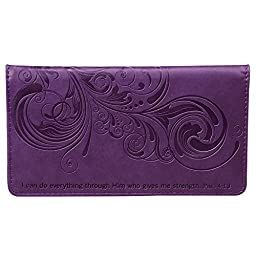 Philippians 4:13 Purple Checkbook Cover