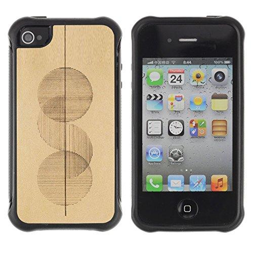 Apple Iphone 4 / 4S - Art Circles Simplistic Art