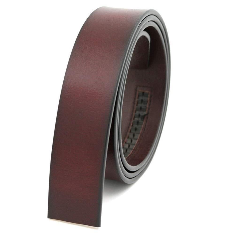 Belt Length : 125cm, Color : Coffee Cintur/ón De Cuero De Vaca Pura Correa De La Empu/ñadura Sin Hebilla De La Correa De Cuero Genuino Hebilla Autom/ática For Los Hombres De Alta Calidad