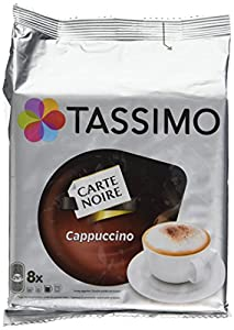 tassimo carte noire cappuccino coffee 16 discs 8 servings pack of 5 total 80 discs pods 40. Black Bedroom Furniture Sets. Home Design Ideas