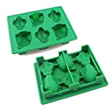 KRshop Set of 8 Star Wars theme Baking Silicone Ice Cube Trays Candy Silicone Molds, Stormtrooper, Darth Vader, X-Wing Fighter, Millennium Falcon, R2-D2, Han Solo, Boba Fett, and Death Star