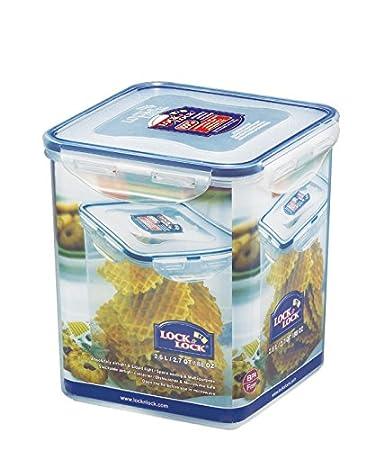 Elegant LOCK U0026 LOCK Airtight Square Tall Food Storage Container 87.92 Oz / 10.99 Cup