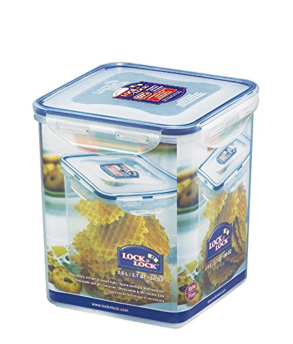 Ordinaire LOCK U0026 LOCK Airtight Square Tall Food Storage Container 87.92 Oz / 10.99 Cup