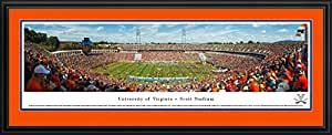 Virginia Football - 50 Yard  - Blakeway Panoramas College Sports Posters with Deluxe Frame