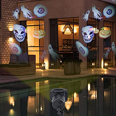 Projection LED Lights 12 Pictures for Christmas,Halloween,Party,Decoration,Waterproof Rotating Garden Lamp for Wall,Yard,Sparkling Landscape