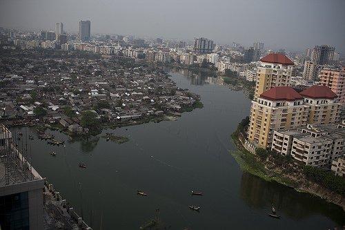 Photo: A view over Dhaka the capital of Bangladesh.