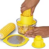 Cob Corn Stripper Kitchen Tools With Built-In Measuring Cup And Grater
