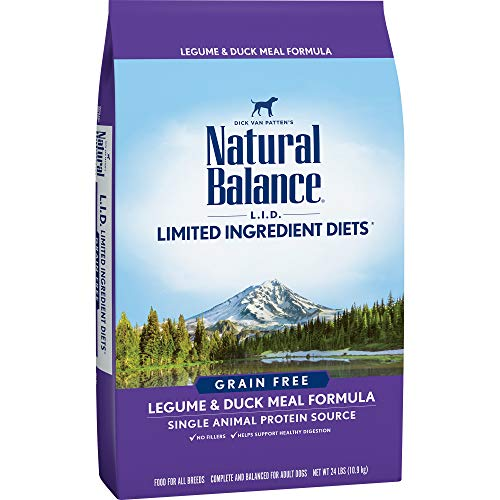 Natural Balance L.I.D. Limited Ingredient Diets Dry Dog Food, Grain Free, Legume & Duck Meal Formula, 24-Pound