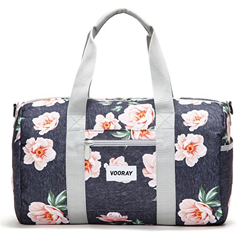 Vooray Roadie 23L Small Gym Duffel Bag, Rose Floral Navy (23l Bag)