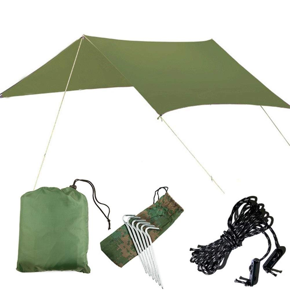 Jx Outdoor Waterproof Super Large Canopy Multi-Person Family Beach Awning 3m X 3 M Garden Patio Party Sunscreen with Azure Color (Color : Green) by Jx