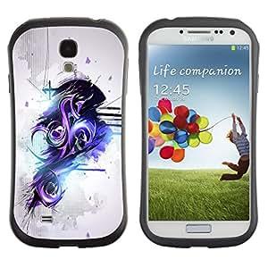 Suave TPU GEL Carcasa Funda Silicona Blando Estuche Caso de protección (para) Samsung Galaxy S4 I9500 / CECELL Phone case / / Purple & Black Abstract graffiti /